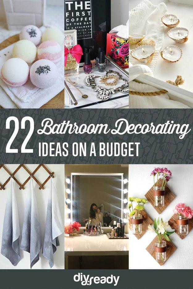 Bathroom Decorating Ideas on a Budget DIY Ready