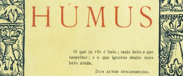"""""""Húmus""""   Raúl Brandão"""