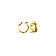 9ct Yellow Gold Wedding Band Hoop Earrings
