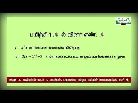 11th Maths உருமாற்றத்தைப் பயன்படுத்திச் சார்புகளை வரை பாடம் 4 பகுதி 2 Kalvi TV