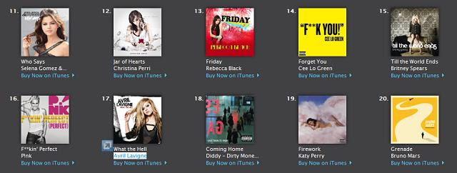 Friday on iTunes Chart