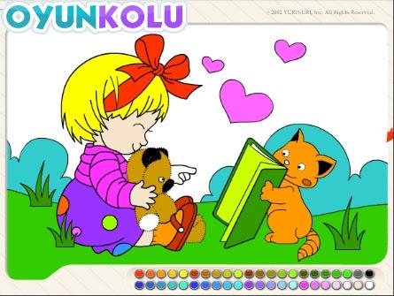 Boyama Sayfası Rengarenk Boyalar Oyun Kolu Blog