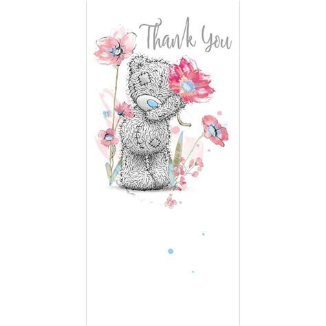Holding Flower Me To You Bear Thank You Card (ASZ01010
