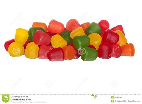 Multicolored Gummy Fruit Candy Stock Image   Image: 35294541
