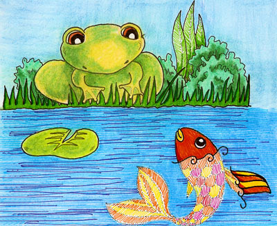 Frog and Fish
