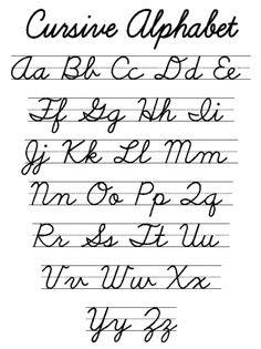Printable Handwriting Alphabet