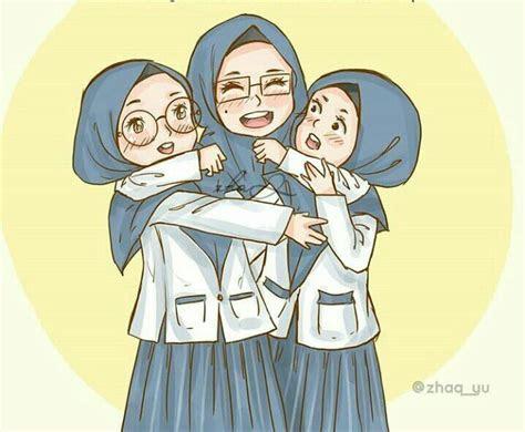 friends hijab girl hijab   seni islamis