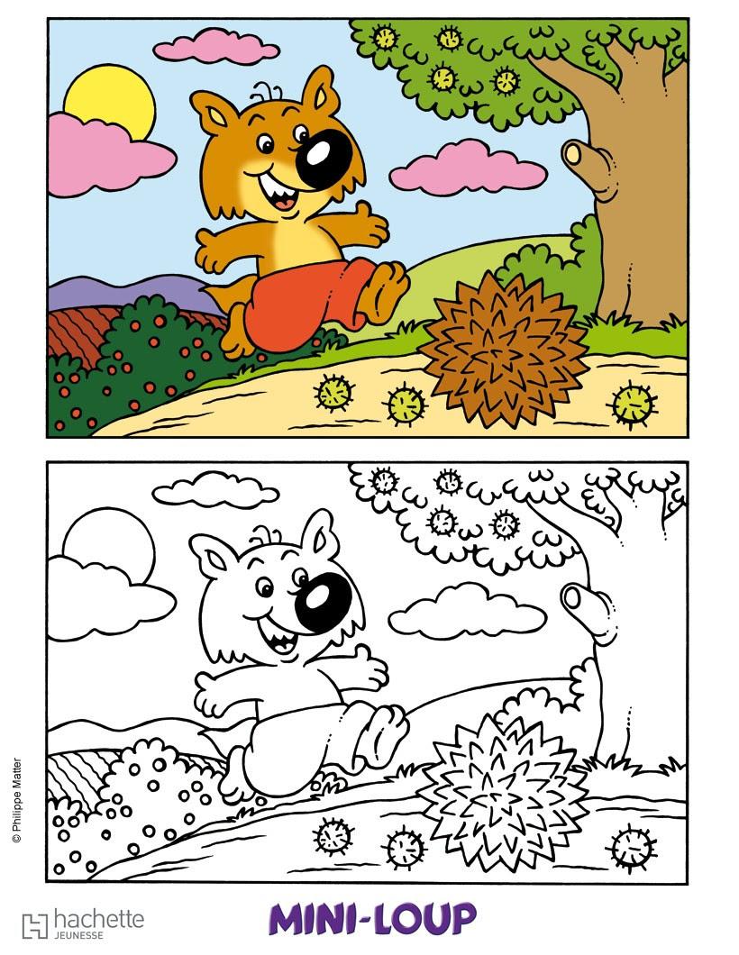 Coloriage Mini Loup Coloriages Coloriage à Imprimer Gratuit Fr