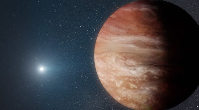 Planeta gigante orbitando estrela morta mostra o que pode acontecer após sol morrer