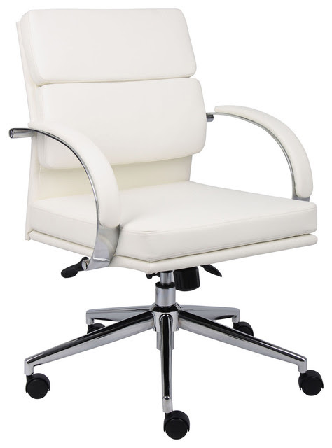 BOSS CaresSoft Plus Executive Office Chair with White Finish ...