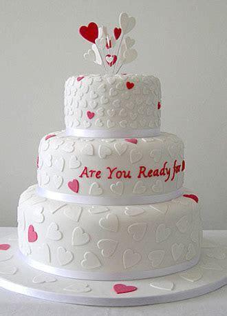Heart wedding cake design