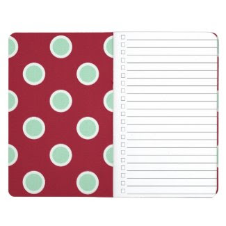 Christmas Gift Checklist Polka Dot Pocket Journal