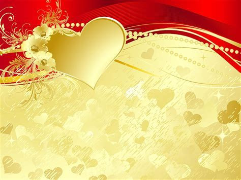 Red And Gold Wedding Background