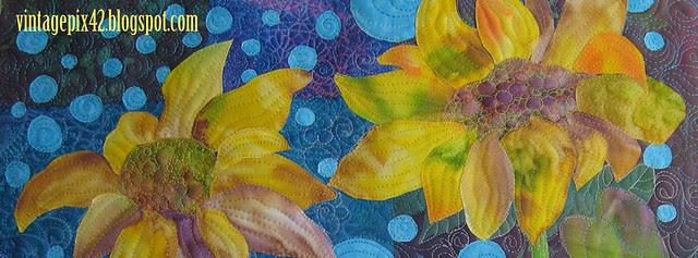 """Detail of """"Three Sunflowers"""""""