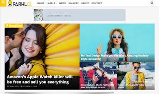 Parhlo Magazine Blogger Template