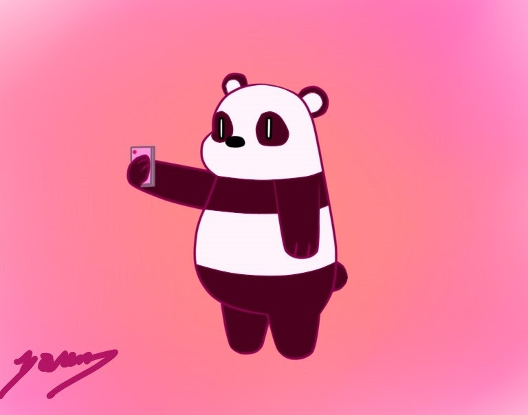 I decide to draw a quick sketch of Panda from We Bare Bears. I think the next will be Polar :D