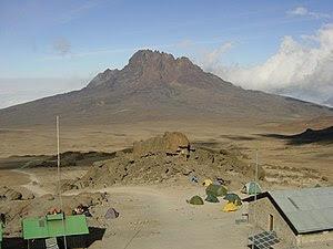 Mawenzi, Mountain in Kilimanjaro area, in Tanz...