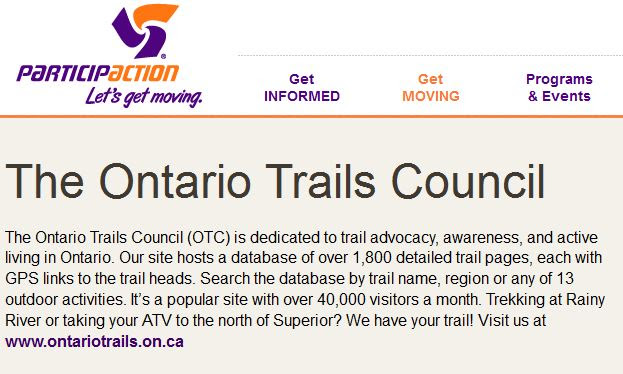 ontario trails participaction