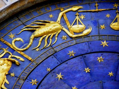 Venice - Sign Scorpio On The Clock Tower