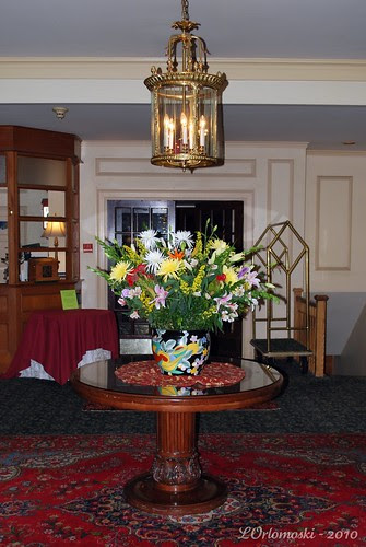 Lobby Flowers at the Hawthorne Hotel