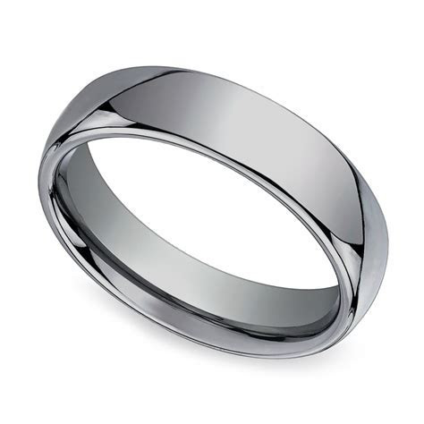 Comfort Fit Men's Wedding Ring in Tungsten (6mm)