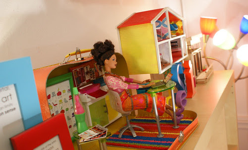 Interior Designer Barbie working in her little atelier