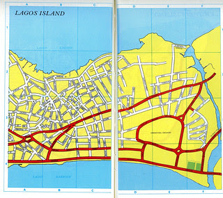 Guide to Lagos 1975 063 map of lagos island 1975