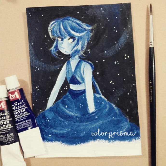 made with gouache-watercolor