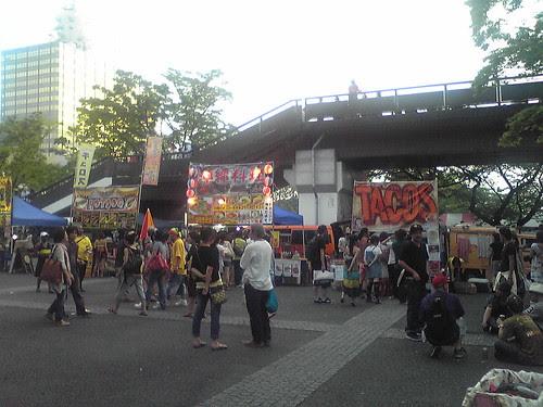 Food stalls in Jamaica Festival 09