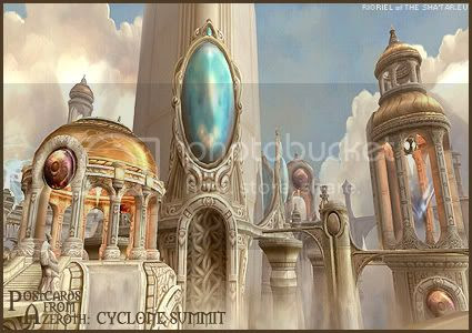Postcards of Azeroth: Cyclone Summit, by Rioriel Ail'thera of theshatar.eu