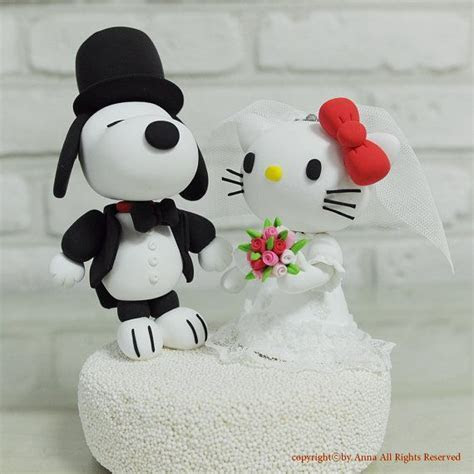 Snoopy   Hello Kitty Wedding Cake Topper   It's a Party