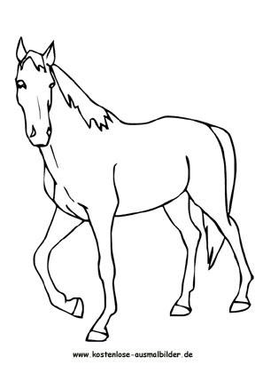 Ausmalbilder Pferd 4 - Tiere zum ausmalen | Malvorlagen Pferde