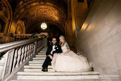 detroit public library wedding shannon josh  love