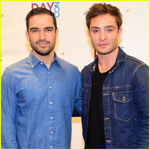 Alfonso Herrera & Ed Westwick Meet Up at Daydream Convention