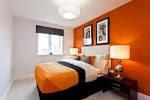 Design Bedroom White and Orange | Minimalist Interior Design