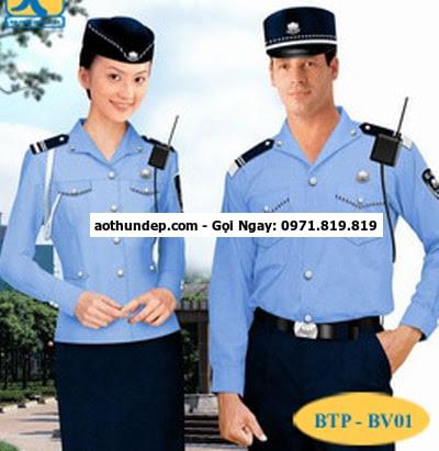 may đồng phục bảo vệ,