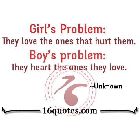 The Problem Of Girls And Boys