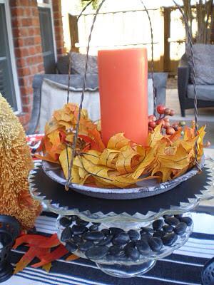 Halloween Tablescape orange and black