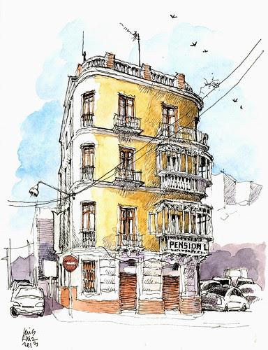 Málaga, pensión La Mundial