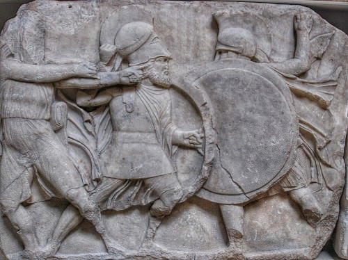 Greek Hoplites Fighting