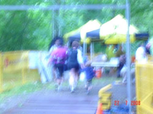 running in to finish