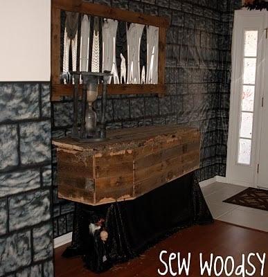 Halloween Rustic Wood Coffin