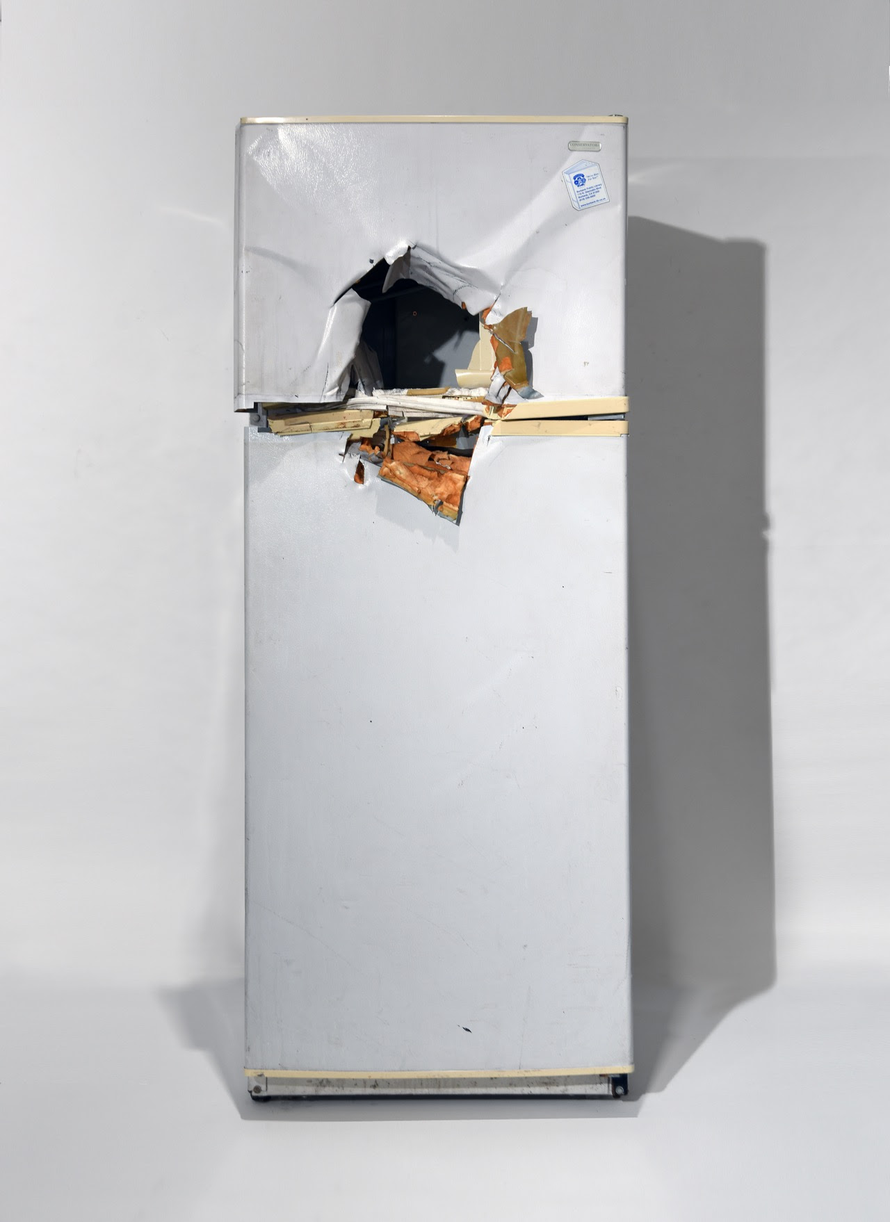 """Rodney McMillian """"Untitled (refrigerator)"""" 2009. Photo courtesy the Orange County Museum of Art and Bliss Photography"""