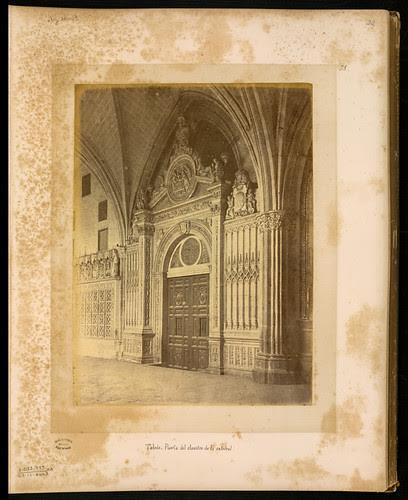 Claustro de la Catedral en el siglo XIX. Foto Jean Laurent. Biblioteca Nacional de Brasil