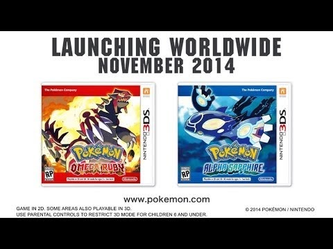 Pokemon Alpha Sapphire and Omega Ruby Announced