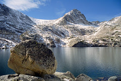 Boulder and Blue Lake