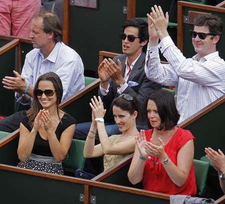 Pippa Middleton vibrou na partida.
