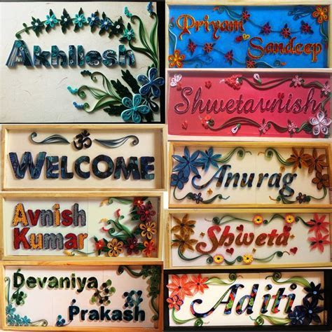 Name plates, Plates and Names on Pinterest