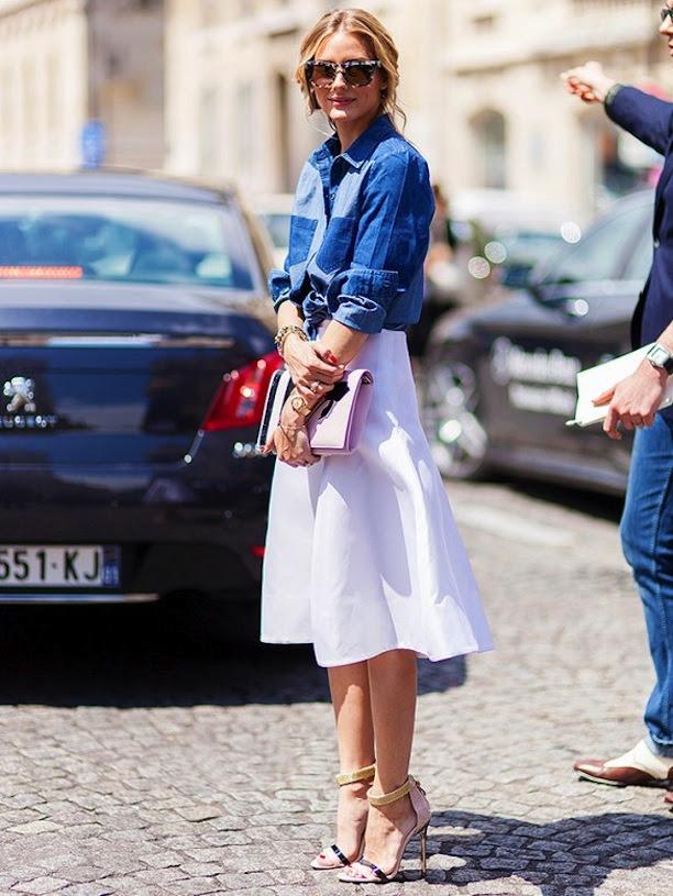 Olivia Palermo // Denim Button Up