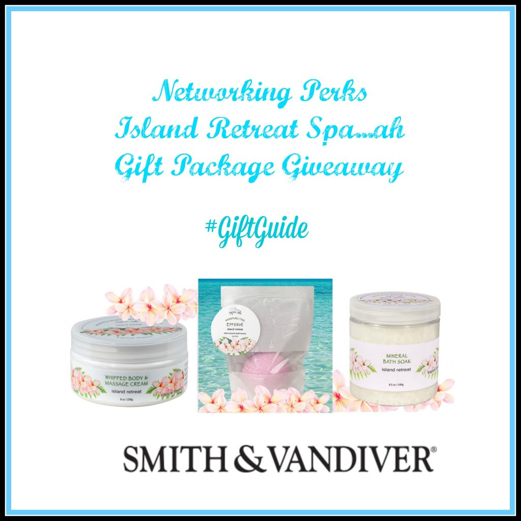 Enter the Island Retreat Spah...ah Gift Package Giveaway. Ends 11/29